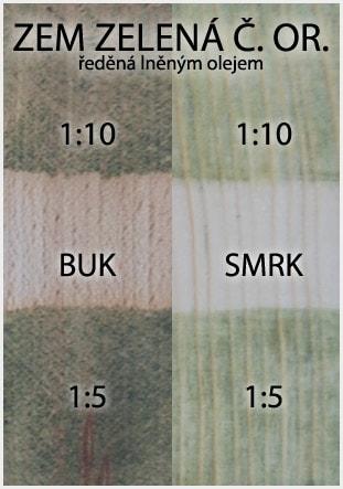 Přírodní olejové barvy na dřevo